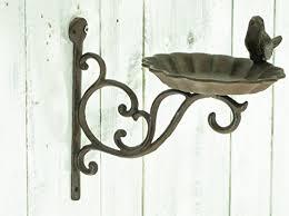East2eden Retro Vintage Design Cast Iron Wall Mounted Garden Bird Bath Wild Birds Feeder Animal Shop