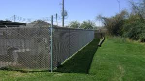 6 Ft 1 Ft Chain Link Fence With Privacy Slats 6 Ft Of Fabric With 1 Ft Of 3 Strand Barb Wire In 2020 Chain Link Fence Cup Design Chain Link Fence Gate