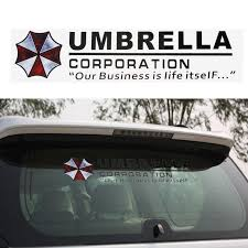 1pcs Umbrella Corporation Car Front Rear Windshield Decal Auto Window Sticker Vinyl Car Decals Stickers Car Styling Accessories Car Stickers Aliexpress