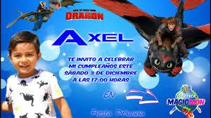 Invitacion Axel 6 Cumpleanos Youtube