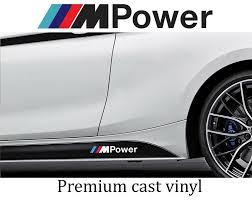 4 X Bmw M Power Car Body Graphic Vinyl Decal Sticker Fits M Series 520 320 Nsdecals Bmw Vinyl Decals Vinyl Decal Stickers