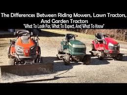 riding mowers lawn tractors yard