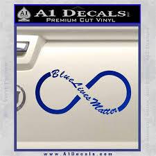 Blue Lives Matter Infinity Symbol Decal Sticker A1 Decals