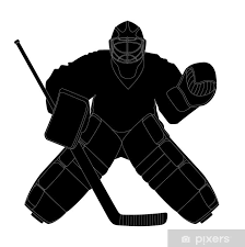 Silhouette Hockey Goalie Wall Mural Pixers We Live To Change