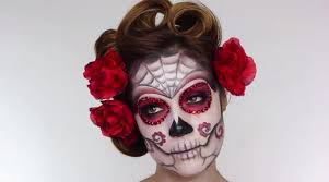 easy sugar skull makeup look inspired