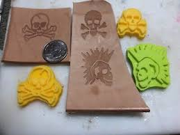 skull 3d printed leather stamp 2 047x1