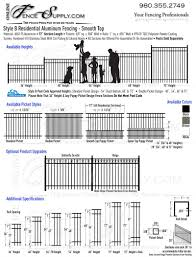 Style B Residential Aluminum Fencing