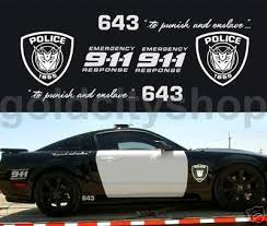 Transformers Barricade Car Decals Whole Set Mustang 35128231