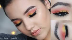 spring makeup tutorial colorful look