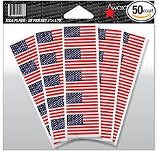 Amazon Com Award Decals American Flag Sticker Decal For Football Helmets Football Baseball Softball Hockey Lacrosse Etc 50 Stickers Sports Outdoors