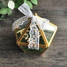 2019 custom name wedding glass ring box