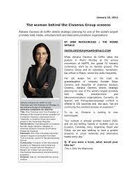 Adriana Cisneros - Entrevista The Miami Herald
