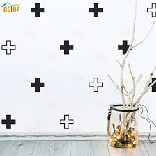 42pcs Plus Sign Swiss Cross Wall Stickers Modern Geometric Wall Decals Removable Diy Kid Nursery Rooms Art Mural Home Decor Amazing Deals