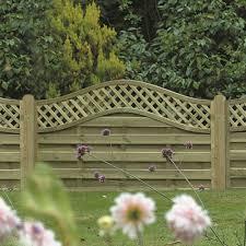 omega lattice trellis fence panel