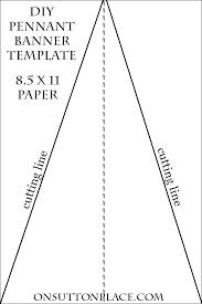 diy pennant banner sewing tutorial on