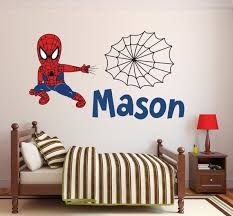 Spiderman Wall Decal Personalized Name Wall Decal Spider Boy Wall Art Superhero Wall Decal Superhero Wall Decals Spiderman Wall Decals Kids Wall Decals