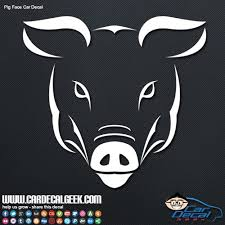 Freaky Pig Face Car Decal Window Graphic Sticker