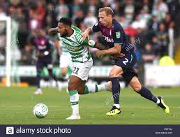 Aston Villa's Axel Tuanzebe and Yeovil Town's Wesley McDonald during the  Carabao Cup, First Round match at Huish Park, Yeovil Stock Photo - Alamy