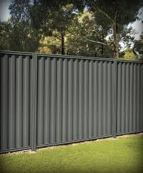 Sheet Metal Privacy Fence Fencing Fences Fence Posts Stratco 21 Jpg Corrugated Metal Fence Metal Fence Panels Good Neighbor Fence