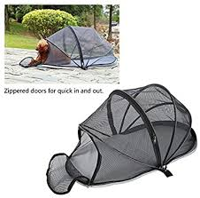 Lahomie Pop Up Dog Tent Outdoor Portable Folding Dog Tent Dog Cage Fence Breathable Mesh Tent Dog Camping Shelter Hood Pet Dog Cat Outdoor Play Tent Gray Amazon Co Uk Pet Supplies