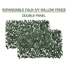 Amazon Com Expandable Fence Privacy Screen For Balcony Patio Outdoor Decorative Faux Ivy Fencing Pane In 2020 Privacy Fence Screen Artificial Hedges Artificial Leaf