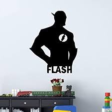 Amazon Com Wall Stickers Wall Decals Wall Paintings Wall Tattoos Wall Posters Wallpapers The Flash Wall Art Decal Wall Sticker Muralhome Decor Living Room Bedroom Diy Waterproof Home Decoration Accessories Baby