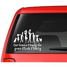 Amazon Com Customdecal Us Zombie Family F12 Vinyl Decal Sticker Car Truck Laptop Netbook Window Automotive