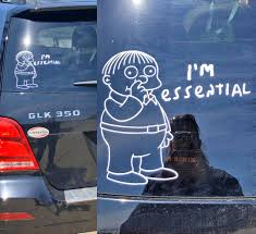 This Ralph Wiggum I M Essential Car Decal Sticker Is Just What The World Needs Right Now
