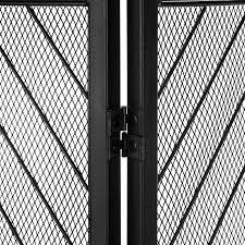 chevron design black steel folding