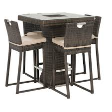4 seat square bar set with ice bucket