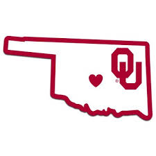 Oklahoma Sooners Home State Decal 5 Vinyl Sticker