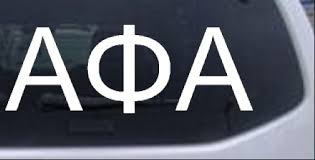 Alpha Phi Alpha Fraternity Greek Letters Car Or Truck Window Decal Sticker Rad Dezigns