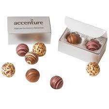 2 piece chocolate truffles in gift box