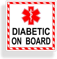 Amazon Com Diabetic On Board Sticker Car Vehicle Window Bumper First Aid Safety Vinyl Decal Everything Else