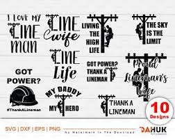 Home Decor Items Line Wife Lineman Heros Electric Worker Car Decal Multiple Colors 4 Inch Medicareresources Org
