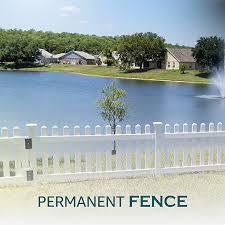 Amazon Com Zippity Outdoor Products Permanent Vinyl Fence