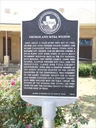 George and Myra Wilson - Texas Historical Markers on Waymarking.com
