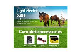 Giantz 5km Solar Electric Fence Energiser Wire Energizer Charger 0 15j Farm Animal Kogan Com