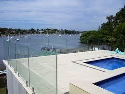 Handrail Deck Glass Harbor All Glass Mirror