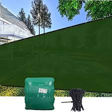 Amazon Com Evergrow 6 X 50 Dark Green Fence Privacy Screen Heavy Duty Fabric Screening Cover For Dogs Patio Balcony With Brass Grommets 5 Years Warranty 90 Uv Blockage Free Zip Ties 6