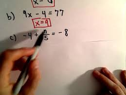 solving two step linear equations
