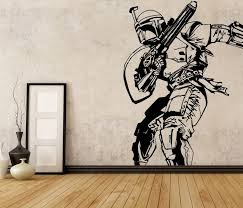 Star Wars Boba Fett Vinyl Wall Decal Room Decor Removable Starwars Sticker Gift 3m Modern Star Wars Bedroom Vinyl Wall Decals Star Wars Living Room