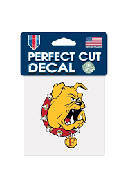 Ferris State Bulldogs 4x4 Perfect Cut Auto Decal Yellow 5712650