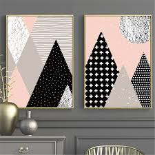 Cactus Geometry Canvas Painting Nordic Poster Wall Art Canvas Posters And Prints Wall Pictures Kids Room Bedroom Decor Wallcorners Art Canvas