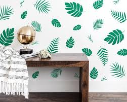 Jungle Nursery Decals Palm Leaf Wall Decals Tropical Wall Etsy In 2020 Tropical Wall Decor Kids Room Wall Stickers Nursery Decals