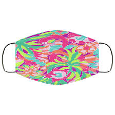 Lilly Pulitzer Face Mask Washable Reusable