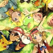 Pokémon XYZ kalos family. ASH, Serena, Clemont, and Bonnie ...