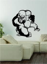 Gorilla V2 Decal Wall Vinyl Art Decor Room Animal Beautiful Monkey Ape Boop Decals