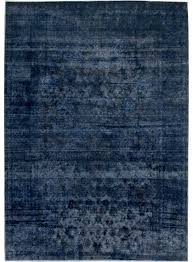 navy blue persian antique overdyed rug