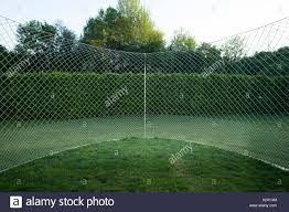 Kennel Made Of Chain Link Fence In A Garden Stock Photo Alamy